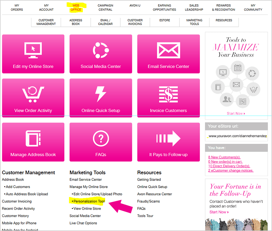 Avon Email Preference