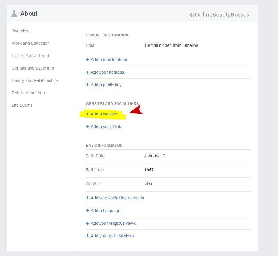 Add Avon eStore to Facebook Step 3