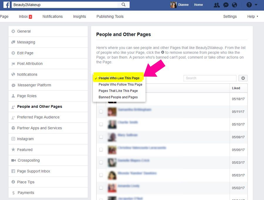 Select People Who LIke Your Facebook Page