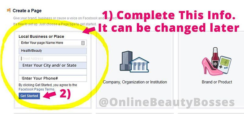 Create-A-Facebook-Page-Contact-Info