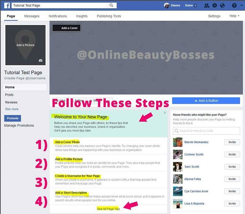 Create-Facebook-Page-For-Beginners