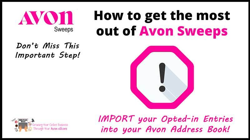 Avon Sweeps Important Steps