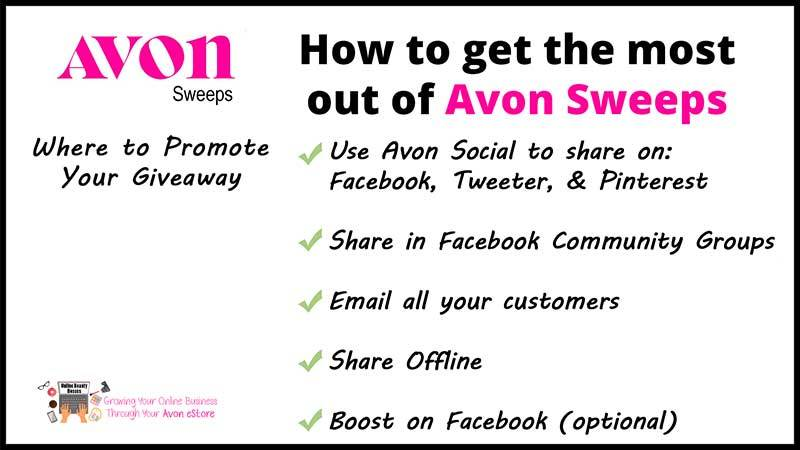 How To Promote Your Avon Sweeps