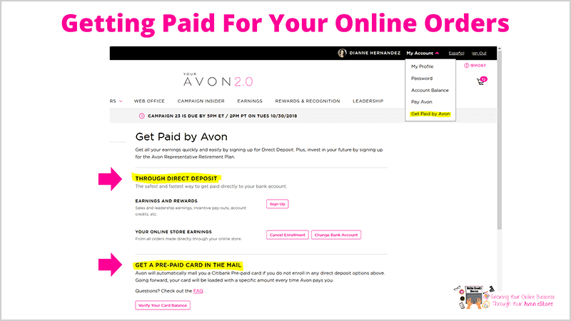 Get Paid By Avon
