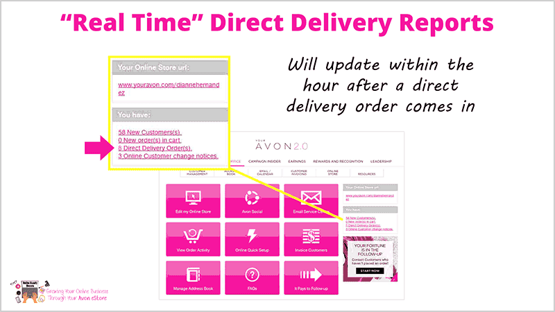 Avon REAL TIME Online Orders REPORT-2