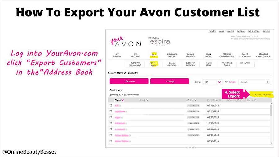 How To Export Customers