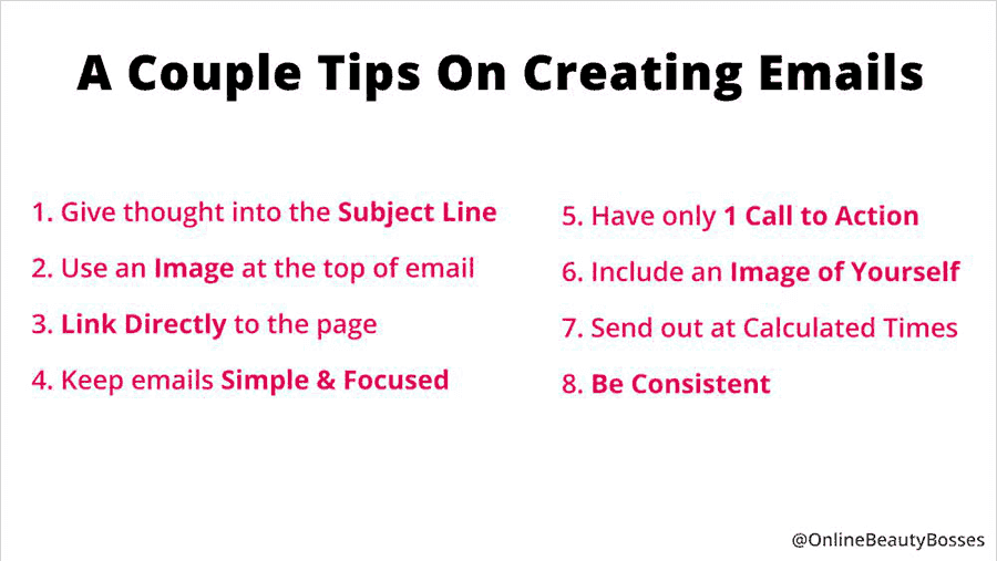 Email Pointers