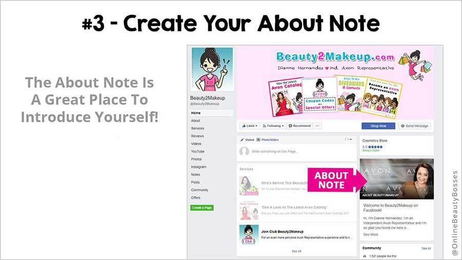 FACEBOOK TIP 3-Add About Me Note