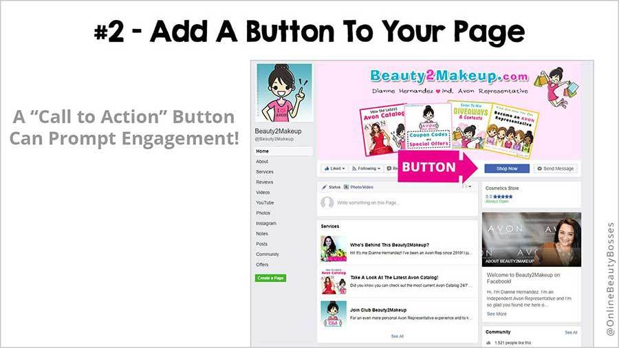 FACEBOOK TIP 2-Add Contact Button