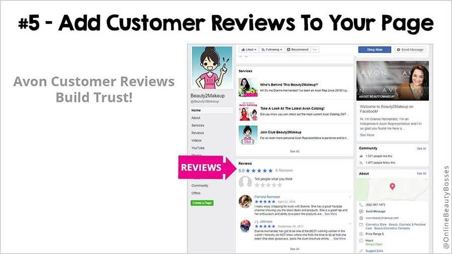 FACEBOOK TIP 5-Add Customer Reviews