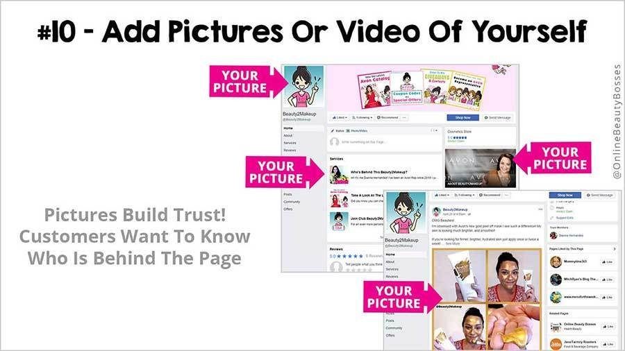 FACEBOOK TIP 10 -Add Images & Video Of Yourself