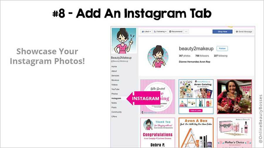 FACEBOOK TIP 8 -Add InstagramTab