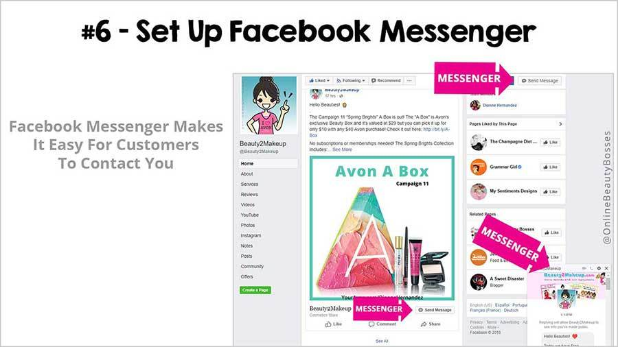 FACEBOOK TIP 6 -Add Messsenger Button
