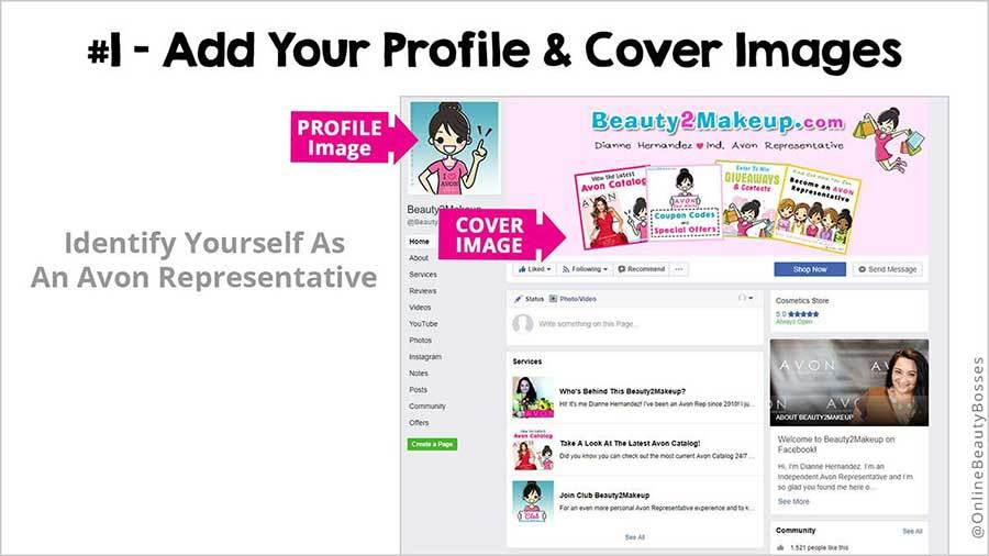 FACEBOOK TIP 1-Add Profile Image