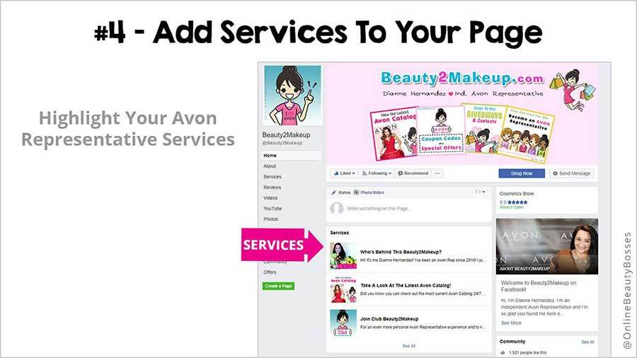 FACEBOOK TIP 4- Add A Services Tab
