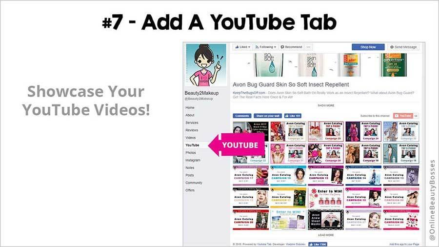 FACEBOOK TIP 7 -Add A YouTube Tab