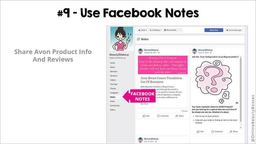 FACEBOOK TIP 9 - Use Facebook Notes