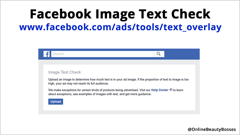 Facebook Image Text Checker Url