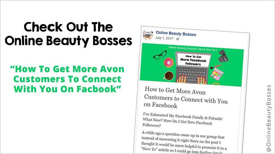 Get More Avon Customers On Facebook