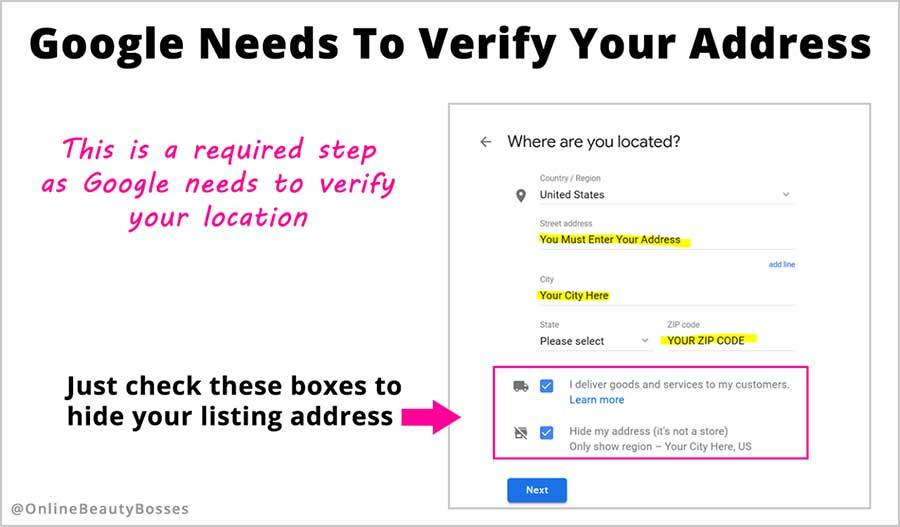 Verify Your Google My Business Address