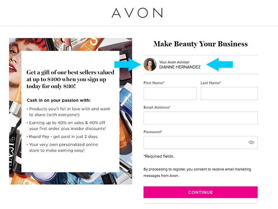 Avon-Rep-Sign-UP-Form