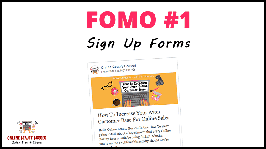 Avon Sign Up Forms